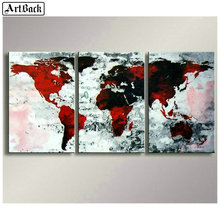 ArtBack three fight 5d diamond painting map full square diy 3d mosaic landscape wall sticker