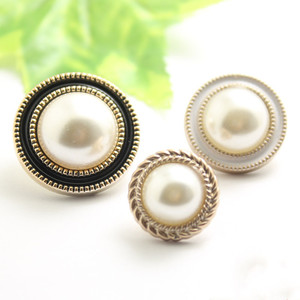 10pcs/lot Gold Pearl Buttons Plastic Shank for Garment Clothing Accessories Fit Sewing Scrapbooking Garment DIY Decoration