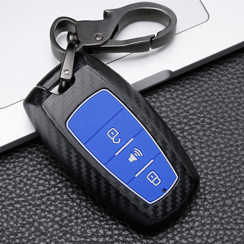 Carbon fiber Silicone Car Smart Remote key Cover Case For Great Wall Haval Coupe H9 GMW H6 H2 F7 F7X 2019 2020 Key Protect Shell image