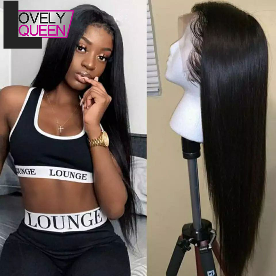 180 Density Lace Front Wig Straight Frontal Human Hair Wigs Preplucked With Baby Hair Swiss Lace Wigs For Women Ready To Wear