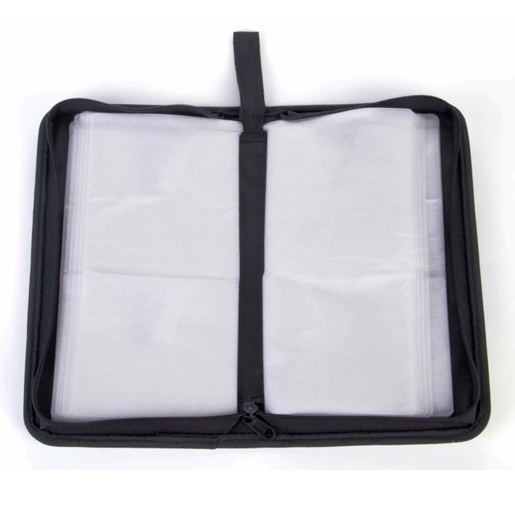 80 Sleeve Artificial Leather Tool <font><b>Organizer</b></font> Car Large Capacity Rectangle Storage DVD <font><b>CD</b></font> <font><b>Bag</b></font> Holder Scratch Resistant Carry Case image