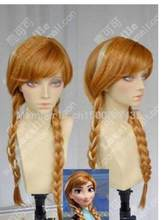 Wig Frozen Anna Ginger Brown / Highlights Braided Cosplay Party Wigs(China)