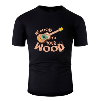 Casual Guitar Hippi T Shirt For Men Humor O-Neck Men And Women T Shirts Clothing Pop Top Tee
