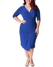 2020 летние сексуальные вечерние платья для полных женщин размера плюс винтажное платье 4XL 5XL женское синее платье с глубоким v-образным вырез...