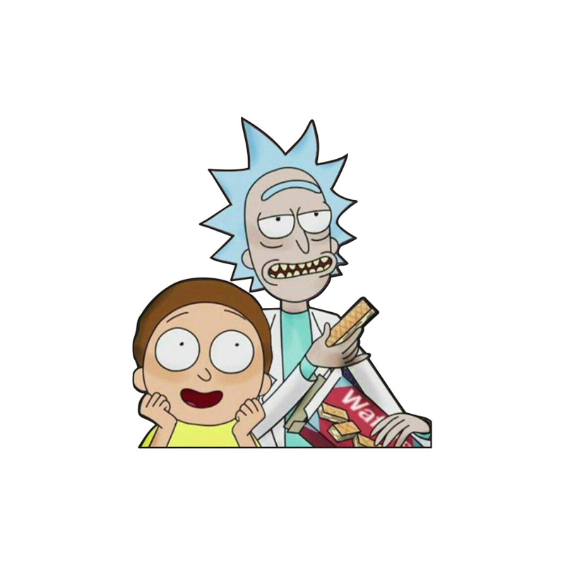1PCS New Arrival Decoration On Backpack Clothes Scarf Acrylic Badge Morty And Rick Icon Brooch Birthday Party Gifts Fashion Pin(China)