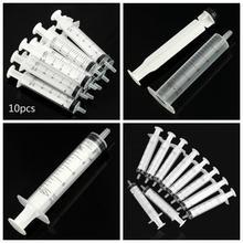 10ML 10 sztuk PlasticNo igła strzykawka pojemność strzykawka przezroczysty sterylny pomiar wtrysku składników odżywczych hydroponika strzykawka tanie tanio NONE CN (pochodzenie) About 10 4 cm 10Pcs