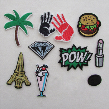 Hot multiple style select Cartoon hot melt adhesive applique embroidery patches stripes DIY Badges clothing accessory 1pcs sell image