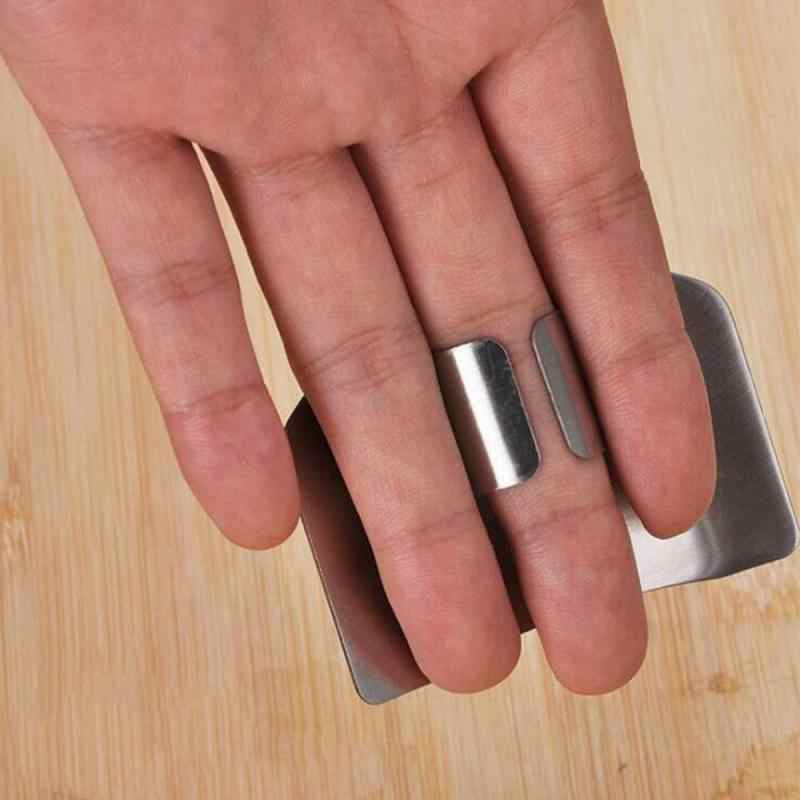 1 Pcs Jari Penjaga Melindungi Jari Tangan Cut Hand Pelindung Pisau Potong Jari Perlindungan Alat Stainless Steel Dapur Badgets