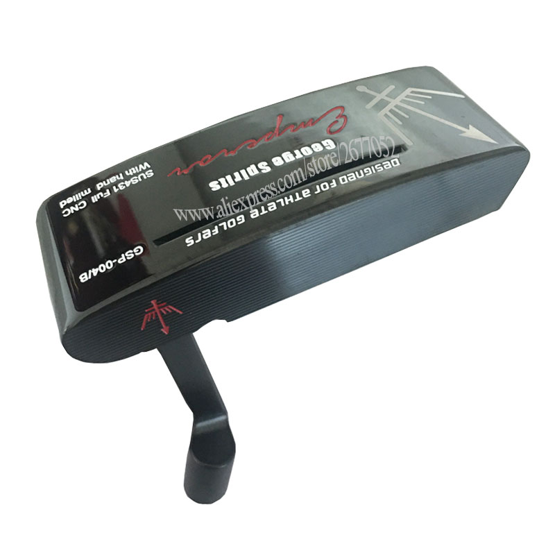 Men New Golf Head George Spirits Golf Putter Black Color Right Handed Clubs Head No Putter Shaft Cooyute Free Shipping