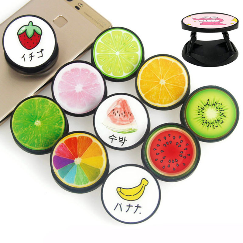 Lemon Kiwi Fruit Style Plastic Fold Mobile Phone Finger Ring Holder Universal For All Brands Phone And All Men And Women