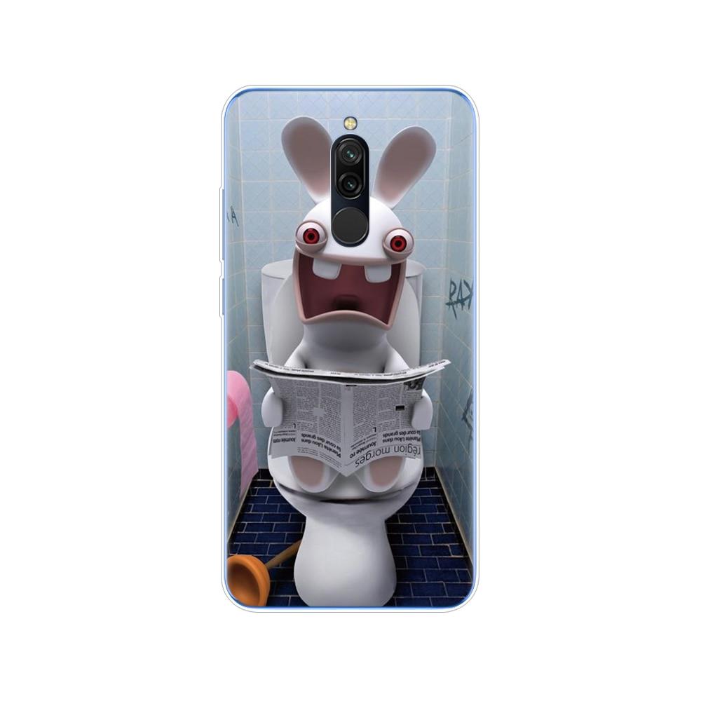 Case For Xiaomi Redmi 8 Cases Cover Silicon Soft Tpu Back Cover For Redmi 8 Bumper Hongmi 8 Coque Skin Shockproof Cute Cat