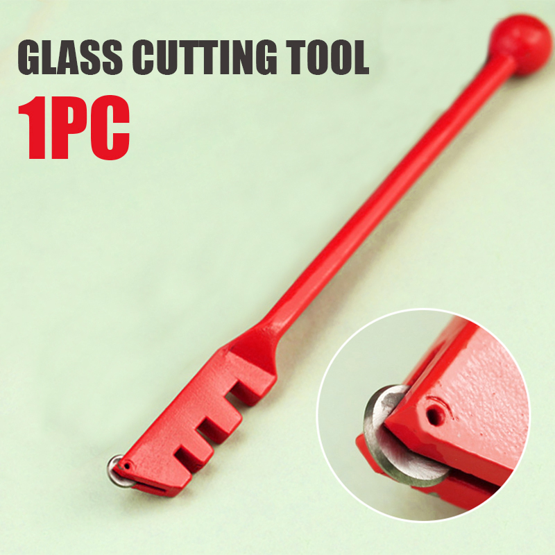 """Glass Cutting Tool 5""""Ball Handle Carbide Wheel Cutter Multifunction Diamond Tipped Glass Tile Cutter Window Craft For Hand Tool"""