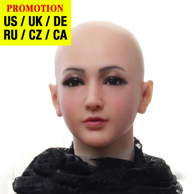 Dokier מציאותי סיליקון מלא ראש פנים מציב נשי Masquerade ליל כל הקדושים קוספליי דראג קווין Crossdresser כיסוי פנים צלקות