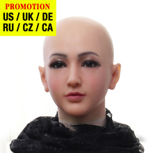 Dokier Realistic Silicone full head face props Female Masquerade Halloween Cosplay Drag Queen Crossdresser Cover Facial Scars