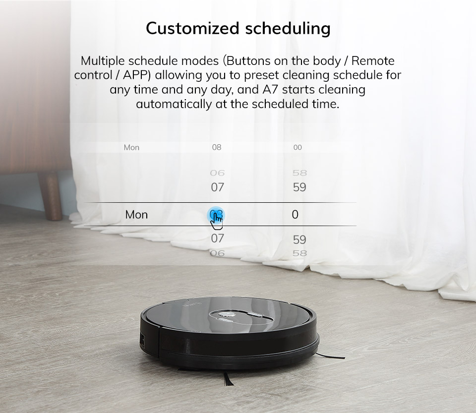 Hdadd662c8e4349a6ba4f1ed245755b1aB ILIFE A7 Robot Cleaner Vacuum Smart APP Remote Control for Hard Floor and Thin Carpet Automatic Recharge Slim Body