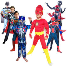 Kids Spider Boy Far From Home Peter Parker Cosplay Costume Avenger Superhero Muscle Costume Child Halloween & Christmas Spree