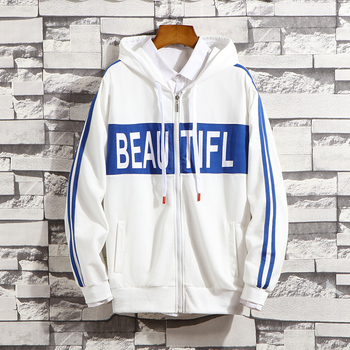 Men Sweatshirts Zipper 2020 New Spring And Autumn Street Fashion Male Hoodies Letter Teenager Boys White Black Red Blue H31 фото
