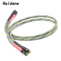 Haldane HIFI 7N OCC Silver Plated Siltech ST 48B G3 2RCA Male to Male Audio Cable AMP Signal Audiophile WBT 0144 Connector Cable