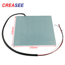 CREASEE 3D Printer Parts 24V Hot Bed Platform 225/235/310mm Aluminum Substrate Heatbed Bed Right Fillet Part 310x310mm
