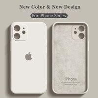 Custodia in Silicone ufficiale originale per iPhone 11 Pro X XR XS custodia per iPhone 12 Pro Max 7 8 Plus SE 2020 Cover con LOGO