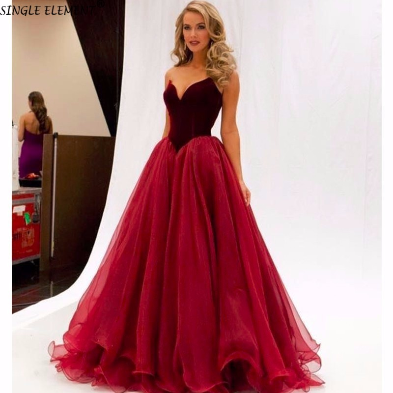 Single Element Real Photos Velvet Tulle Vintage Poofy Sweety Custom Made Evening Graduacion Long Prom Dresses