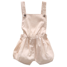 0-3Y newborn baby bodysuit boy overall short pants organic cotton linen gender neutral clothes