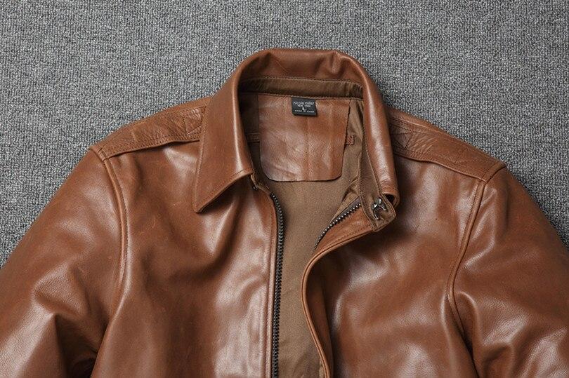 Hdade1bc0b8a34788a6de9d77ac90d511y Free shipping.Warm Mens classic genuine leather Jacket,quality men's vintage flight jackets.Eur Plus size Casual A2 coat.sales