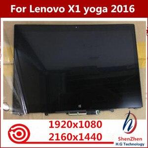 """Image 2 - Pantalla LED LCD Original de 14 """"20FQ WQHD MONTAJE DE digitalizador con pantalla táctil para Lenovo X1 Yoga 1ª generación 2560*1440 2016"""