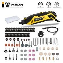 DEKO DKRT01 220V, Mini amoladora de velocidad Variable, taladro eléctrico, corte, pulido, herramienta de perforación rotativa con accesorios Dremel