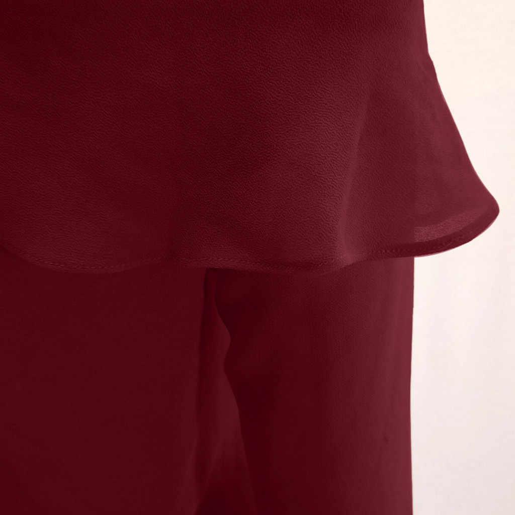 Chemisier en mousseline de soie femmes décontracté à manches longues épaules nues chemise hauts Chemisier Femme Bluzki Damskie femmes hauts et chemisiers