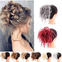 Модные женские кудрявые волосы грязные синтетические волосы пучок длинные волосы стрейч кружева наращивание волос эластичная лента ремень волос парик