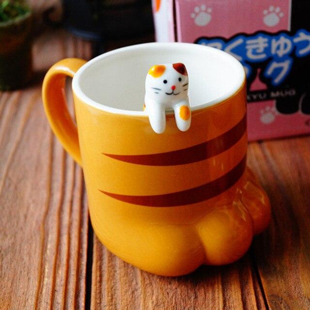 Kawaii Ceramic Cat Paw Mug – Limited Edition