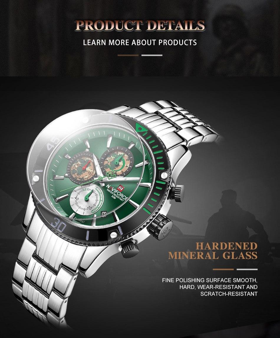 Hdadeb8eb98e54c14aad817b5990c53fa8 NAVIFORCE Men Watch Chronograph Military