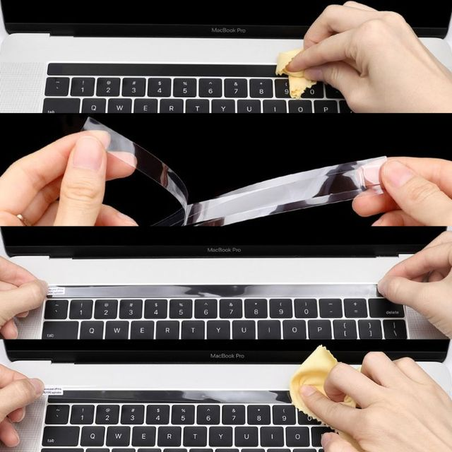 High Clear Transparent Film Skin Guard Protector Sticker For Macbook Pro 13 Touch Bar A1706 15 A1707 Touchbar ID Stickers 2017