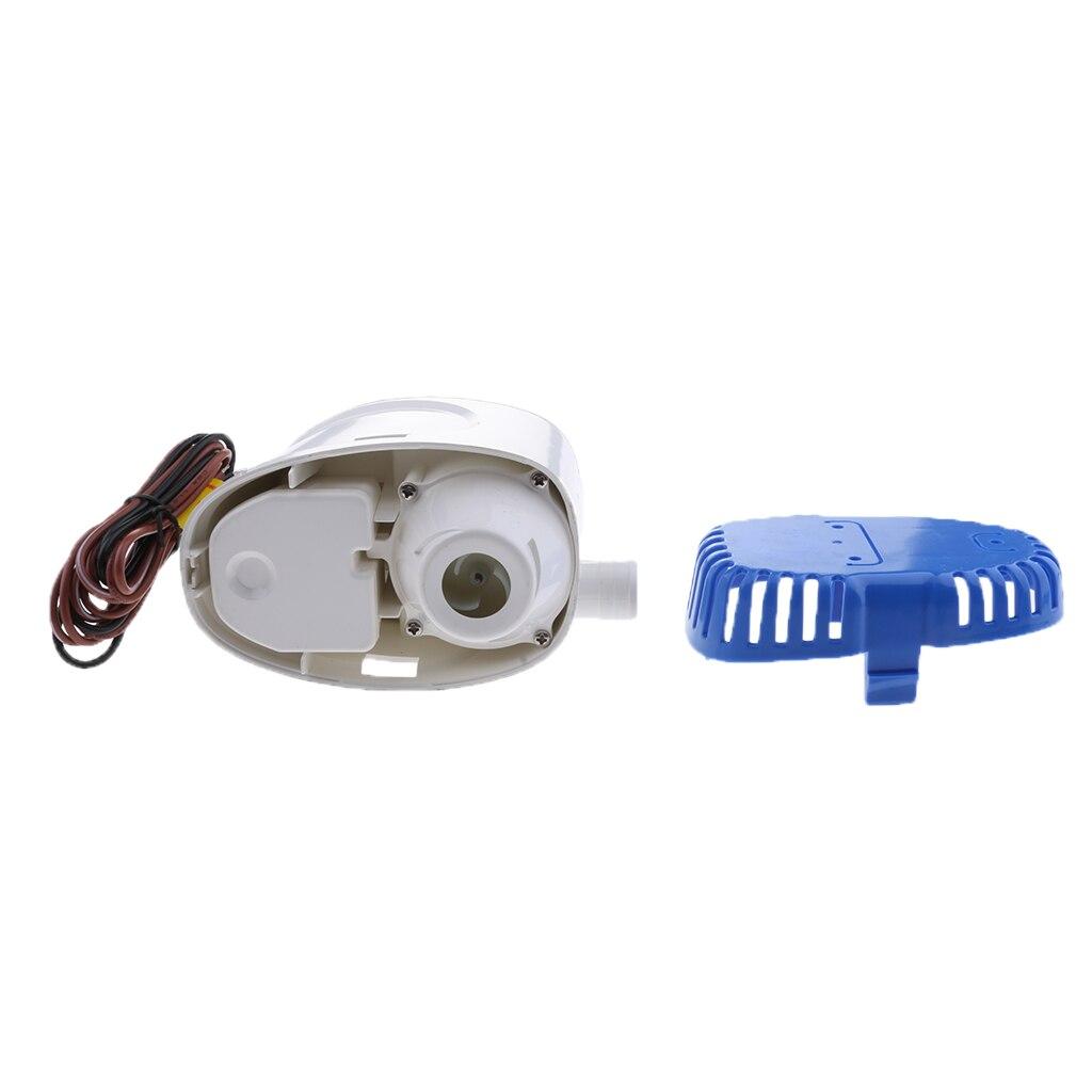 Pompe à eau de cale de bateau Submersible de sortie de 29mm 24V 600GPH commutateur automatique de flotteur