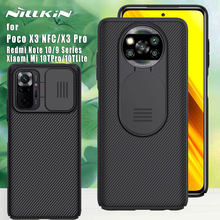 NILLKIN Camera Protection for Xiaomi Poco X3 NFC Pro F3 case Back cover for Mi 10T Lite Redmi Note 10 10s 9T 9 Pro Max 9s 5G 4G
