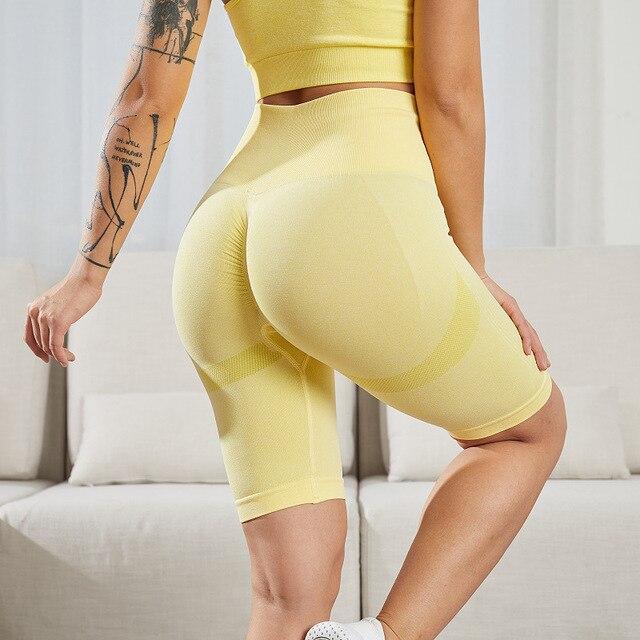 Gym Shorts Fitness Clothing Seamless Women Push Up High Waist Shorts Sports Workout Short Leggings Tummy Control Hot 2020 6