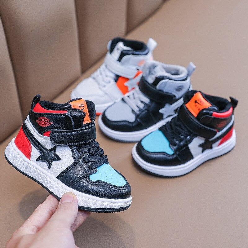 Çocuk kış ayakkabı 2020 kış sonbahar erkek kız orta kesim pamuk sıcak spor ayakkabı bebek yumuşak mikrofiber koşu ayakkabıları