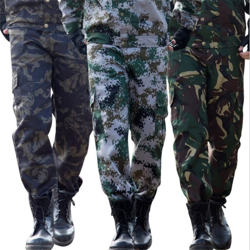 Cool Good Quality Camouflage Military Uniform Tactical Army Pants For Men Field Working Security Camping Climbing Free Shipping