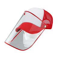 Anti spitting Protective Baseball Cap with Dustproof Transparent Cover Outdoor Face Cover Caps &T8-in Fischermütze aus Sport und Unterhaltung bei