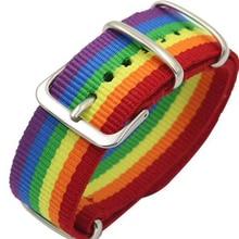 Nylon Rainbow Lesbians Gays Bisexuals Transgender Bracelets for Women Girls Pride Woven