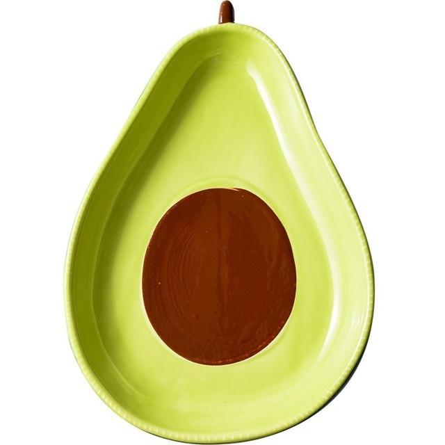креативная тарелка авокадо керамическая для завтрака миска супа фотография