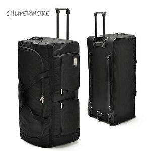 Chupermore 40 дюймов, вместительные дорожные сумки для мужчин, Бизнес Оксфорд, багаж на колесиках для женщин, Многофункциональный чемодан, колеса