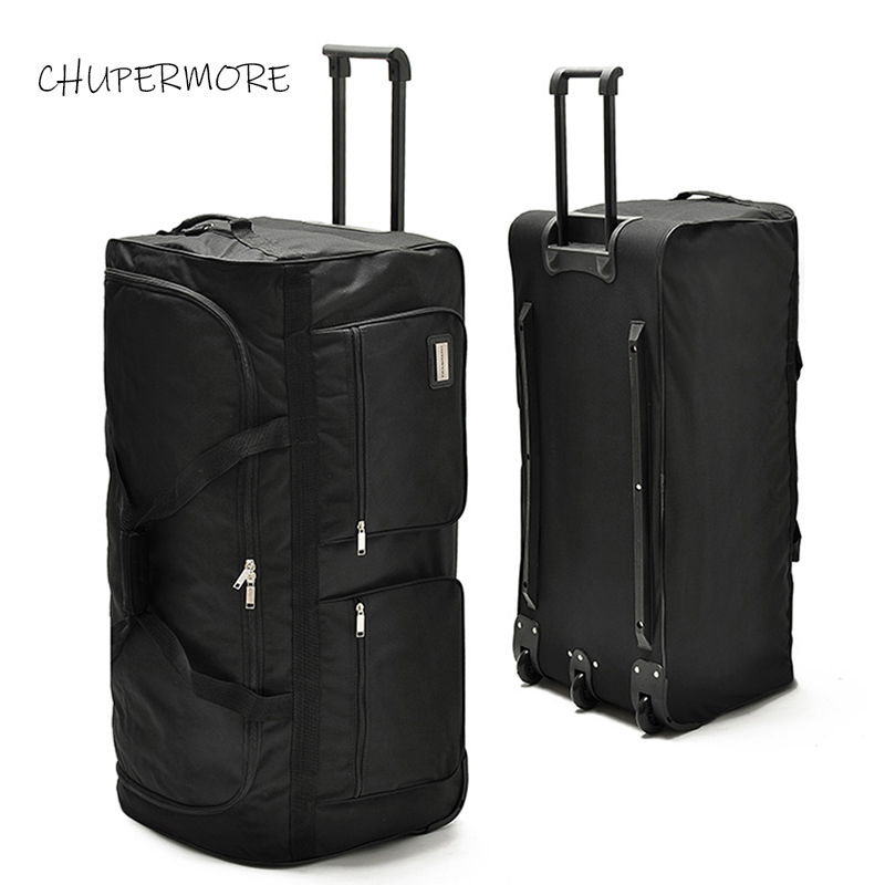 Chupermore 40 Inch High Capacity  Travel Bags Men Business Oxford Rolling Luggage Women Multifunction Suitcase Wheels