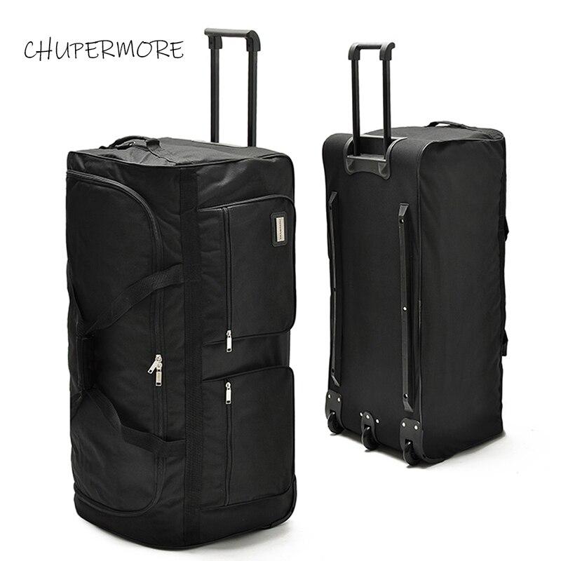 Chupermore 40 pouces haute capacité sacs de voyage hommes affaires Oxford bagages roulants femmes multifonction valise roues