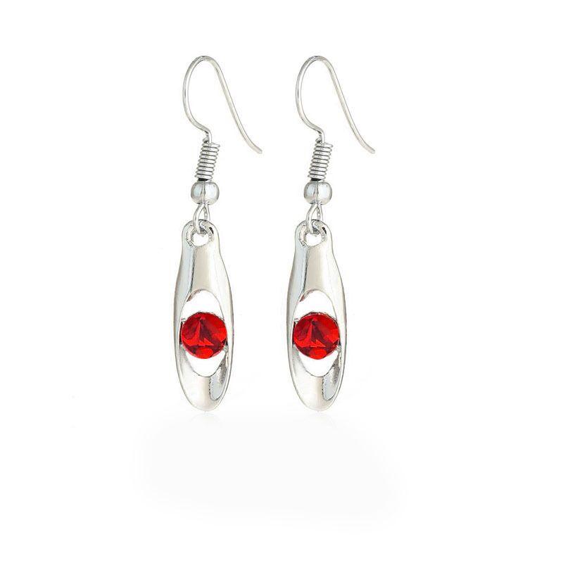 QiLeSen Silver Jewelry Accessories Beautiful Women's 925 Sterling Silver Ear Hook Fine Jewelry Red / Earrings / Earrings thumbnail