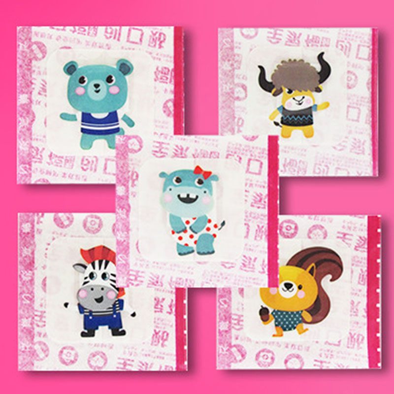 Image 2 - 16Pcs/Lot Waterproof Breathable Cute Cartoon Band Aid Hemostasis  Adhesive Bandages First Aid Emergency Kit For Kids ChildrenEmergency  Kits