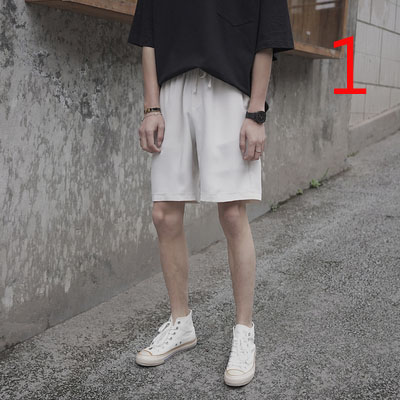 Shorts Men's Slim Section Five Pants Men's Korean Version Of The Trend Of Youth Wild Casual Pants
