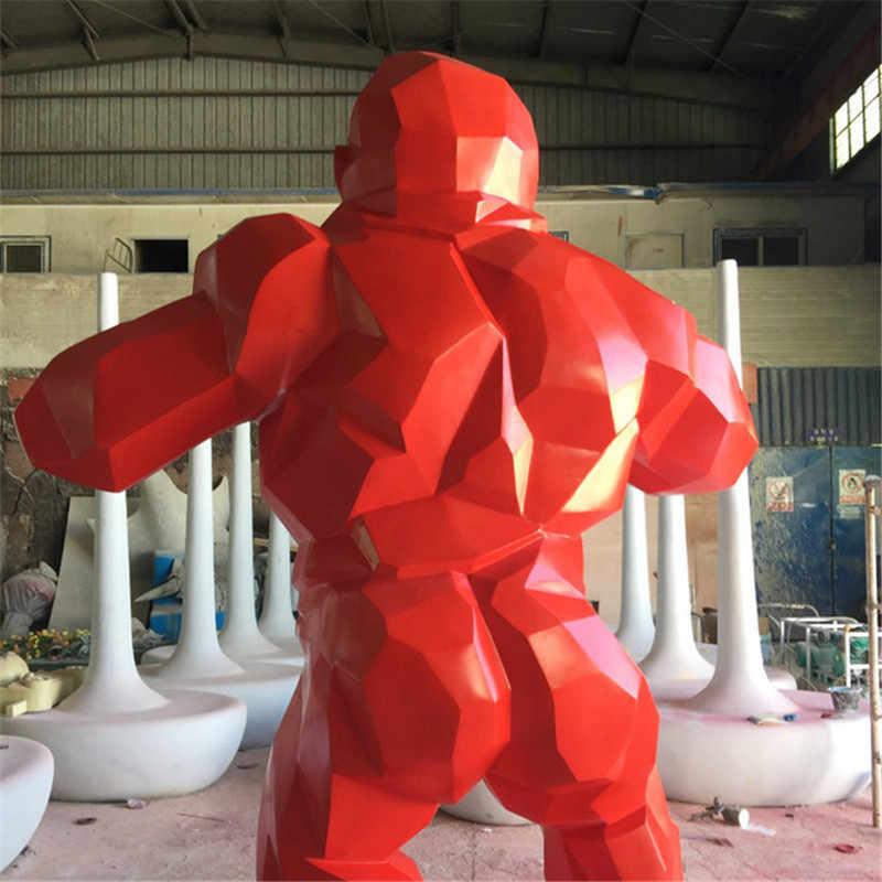 2019New Monkey King Kong Soggiorno Decorazione Della Stanza Gorilla Scultura Geometrica Moderna Statua Regalo Di Compleanno Per La Cerimonia Nuziale Da Collezione