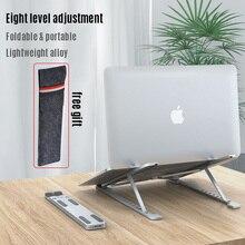 8 Level Adjustment Laptop Holder for MacBook Pro Air 13 15 16 Notebook Foldable Aluminium Alloy